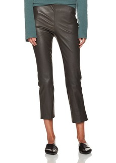 Vince Women's Leather Split Hem Crop Pant  M