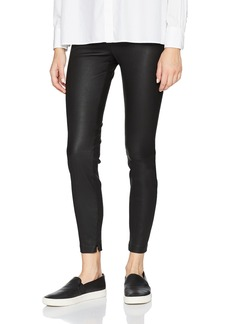 Vince Women's Leather Zip Ankle Legging  L