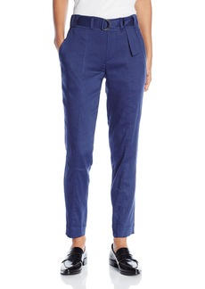 Vince Women's Linen Belted Trouser