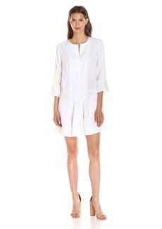 Vince Women's Linen Pleated Drop-Waist Dress