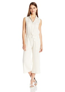 Vince Women's Linen Sleeveless Jumpsuit