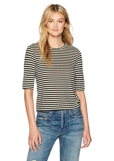 Vince Women's Midi Striped Cropped Tee  XS