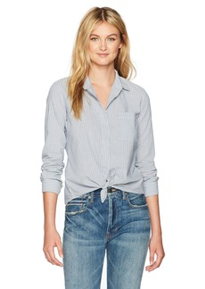 Vince Women's Mixed Stripe Fitted Shirt