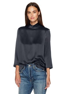 Vince Women's Mock Neck Blouse  S