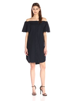 Vince Women's Off-The-Shoulder Shirtdress