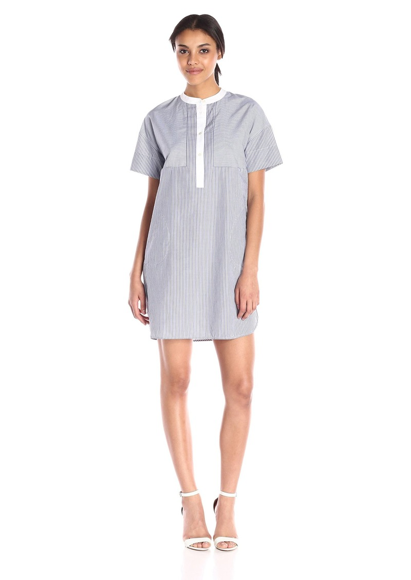 Vince Women's Poplin Yarn Dye Shirting Dress