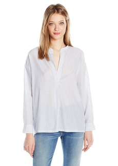 Vince Women's Pullover Shirred Back Blouse  M