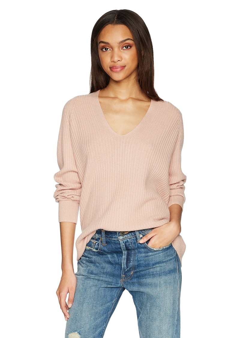 Vince Women's Raglan Rib Double V-Neck  M