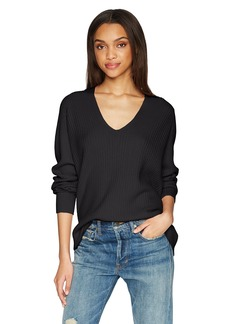 Vince Women's Raglan Rib Double V-Neck  S