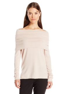 Vince Women's Relaxed Off the Shoulder Pullover