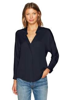 Vince Women's Satin Double Front Blouse