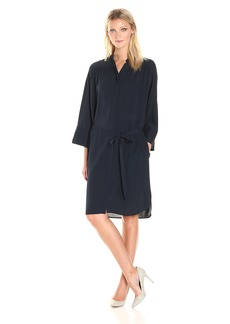 Vince Women's Shirred Shirt Dress  L