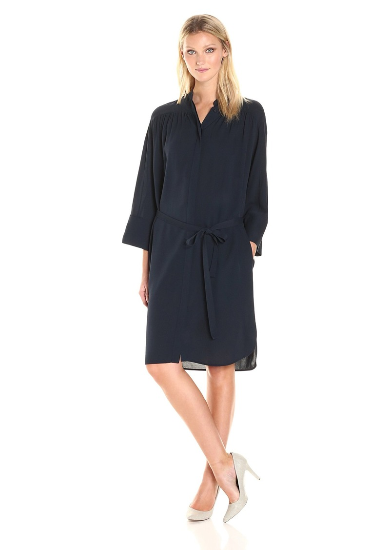 Vince Women's Shirred Shirt Dress  S