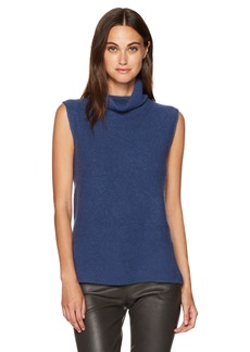 Vince Women's Side Slit Sleeveless Turtleneck  M