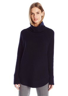 Vince Women's Side Zip Rib Turtleneck