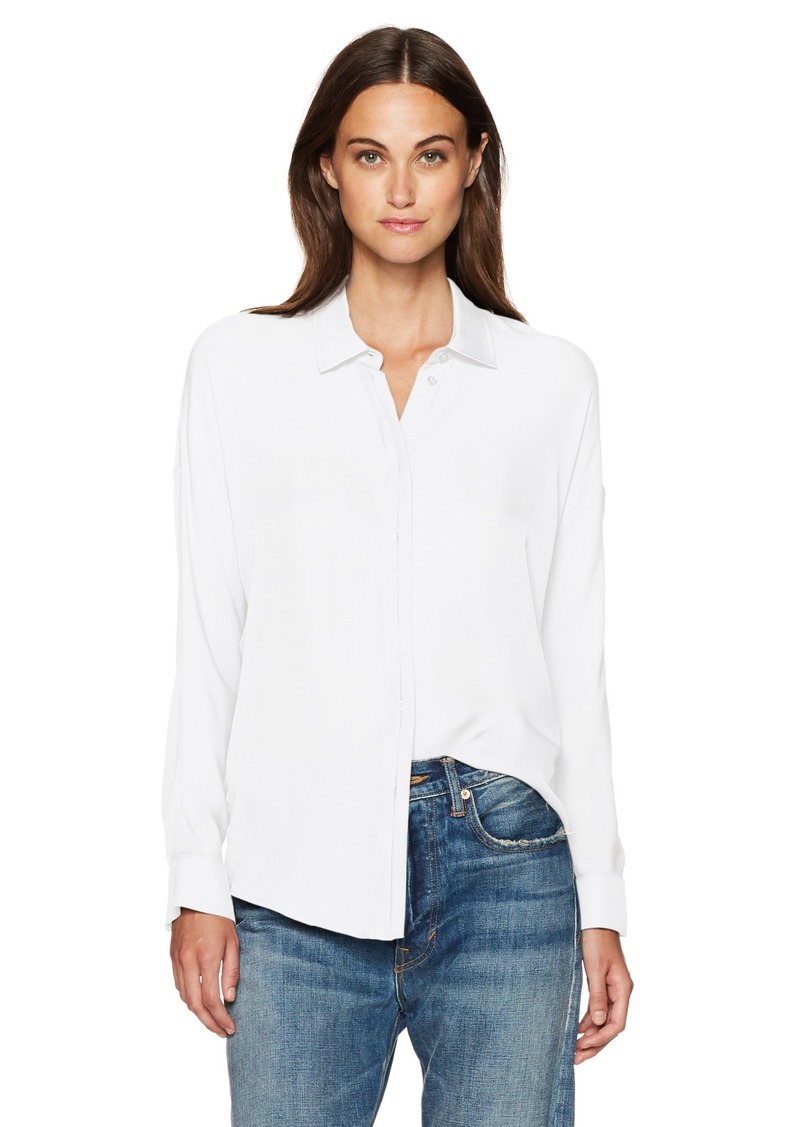 Vince Women's Silk Button Down Blouse  XS