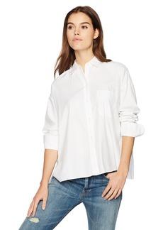 Vince Women's Single Pocket Long Sleeve Shirt  M