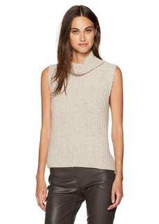 Vince Women's Sleeveless Turtleneck Sweater  M