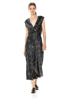 Vince Women's Sprig Floral Crossover Slip Dress  XS