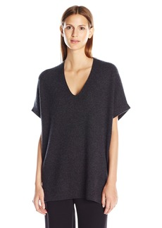 Vince Women's S/s Rib V-Neck Tunic