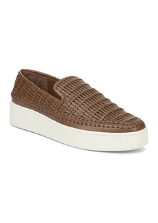 Vince Women's Stafford Woven Leather Platform Slip-On Sneakers
