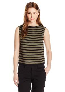 Vince Women's Stripe Cotton Tank  L