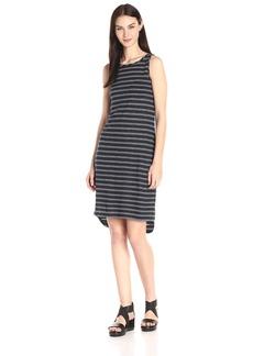 Vince Women's Striped Linen Jersey Tank Dress