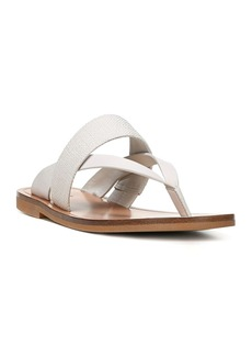 Vince Women's Tess Leather and Woven Thong Sandals