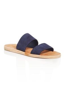 Vince Women's Travis Suede Flat Slide Sandals