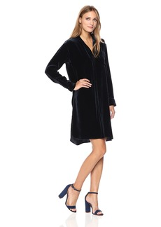Vince Women's Velvet Shirt Dress  XS