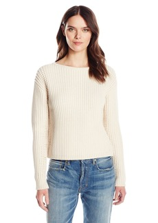 Vince Women's Waffle Stitch Pullover  L