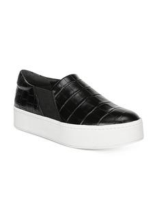 Vince Women's Warren Croc-Embossed Platform Sneakers