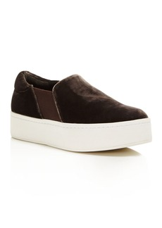 Vince Women's Warren Velvet Platform Slip-On Sneakers