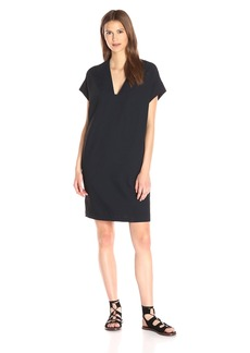Vince Women's Washed Pique Rolled Sleeve Dress