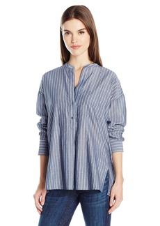 Vince Women's Wide Stripe Pullover Shirt  M