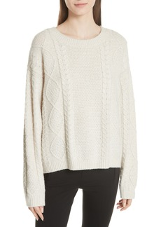 Vince Wool & Cashmere Blend Cable Knit Sweater