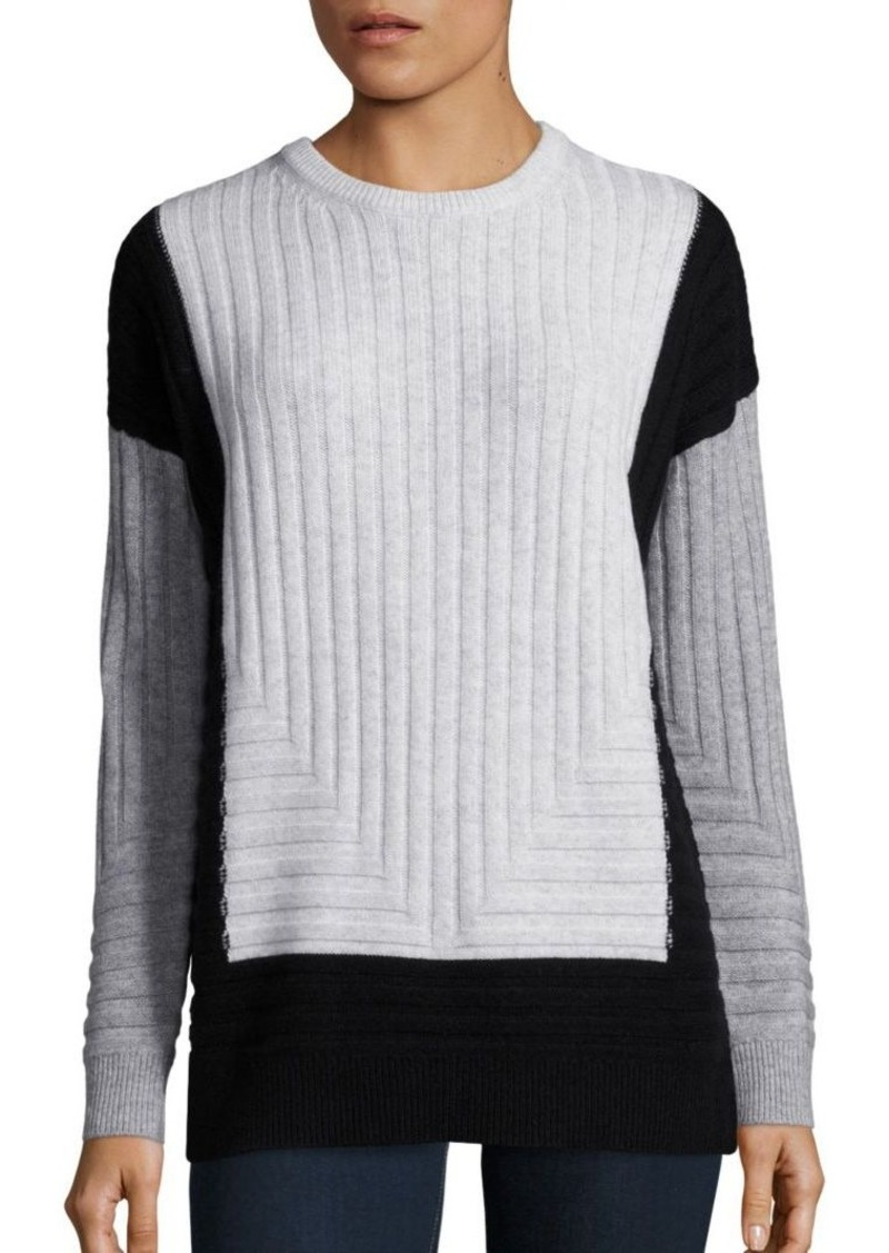 Vince Vince Wool Amp Cashmere Blend Colorblock Sweater
