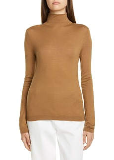 Vince Wool & Silk Shrunken Turtleneck