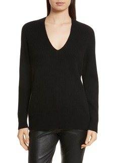 Vince Wool Blend Raglan V-Neck Sweater