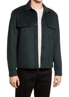 Vince Wool Blend Shirt Jacket