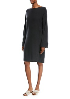 Vince Wool-Cashmere Twisted Seam Dress