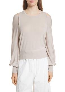 Vince Wool Cold Shoulder Sweater