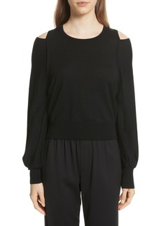 Vince Wool Cold Shoulder Sweater