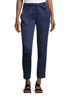 Vince Woven Belted Trouser Pants