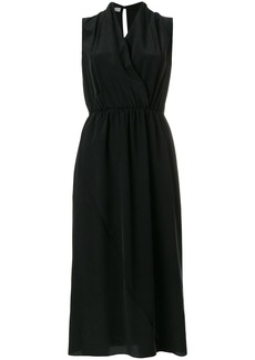 Vince wrap front detail dress