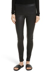 Vince Zip Ankle Leather Leggings