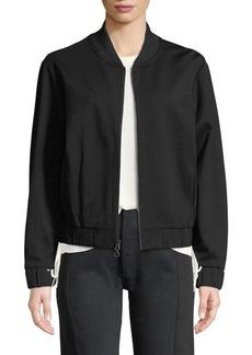 Vince Zip-Front Jersey Bomber Jacket