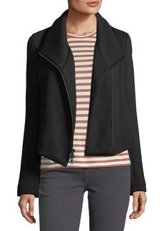 Vince Zip-Front Scuba Jacket