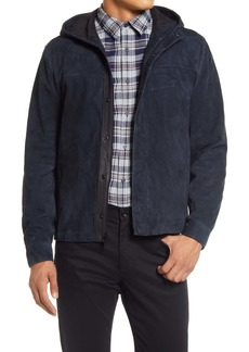 Vince Zip-Up Suede Shirt Jacket