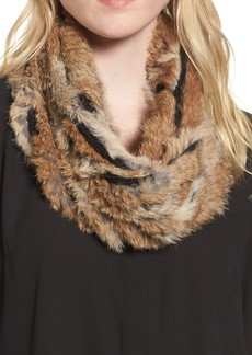 Vincent Pradier Genuine Rabbit Fur Infinity Scarf